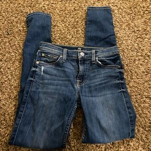 7 For All Mankind skinny jeans pants size 26
